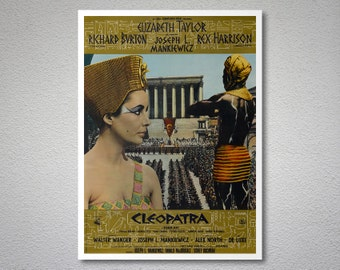 Cleopatra Movie Poster - Elizabeth Taylor, Richard Burton - Poster Paper, Sticker or Canvas Print