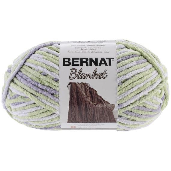 Bernat Blanket Yarn Lilac Leaf Large Skein By