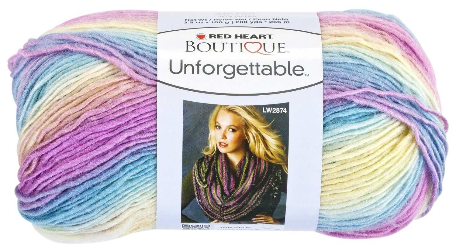 Red Heart Boutique Unforgettable Yarn in Candied Self Striping
