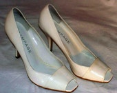 White Open Toe Pumps - Rampage - Size 8 - Gently Worn Shoes