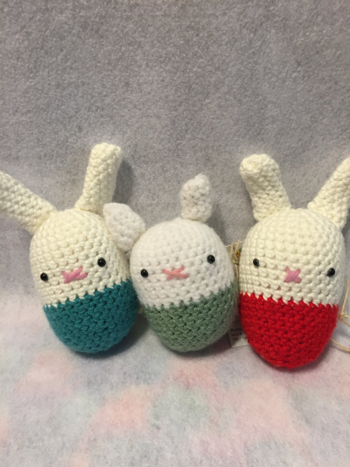 Amigurumi Stuffing : Amigurumi Egg Shaped Bunny Stuffed Animal with by ...