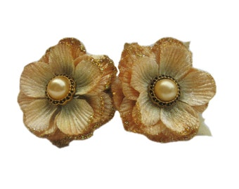 Gold Flower Hair Clip, French Clip Hair Barrette, Women's Accessories
