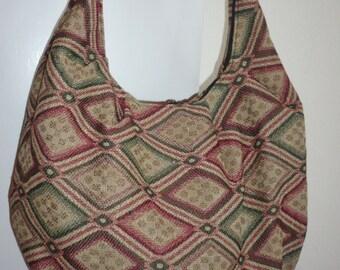 Hippie Hobo Cross Body Bag, Hobo Shoulder Bag,  Woven Fabric
