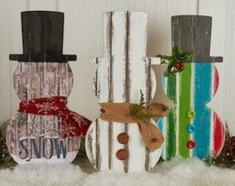 Unfinished Etched Snowman! Perfect for your winter decor!