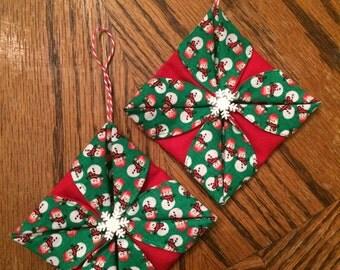 Snowmen / Snowflake Fold Ornament