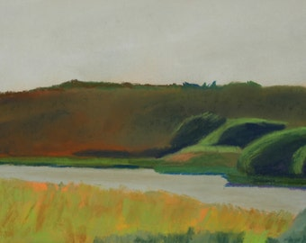 Maine Landscape Plein Air Painting Tidebrook 2 Freeport
