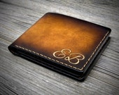 05 Personalized Genuine Leather Wallet - Men's Leather Bifold Wallet - Handstitched Leather wallet - Aged Leather Wallet Monogrammed Wallet