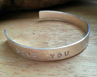 Silver Cuff Bangle Personalized Sterling Silver Bangle Child  and Baby Custom Made Bangle Hand stamped Bracelet Inspirational Bangle