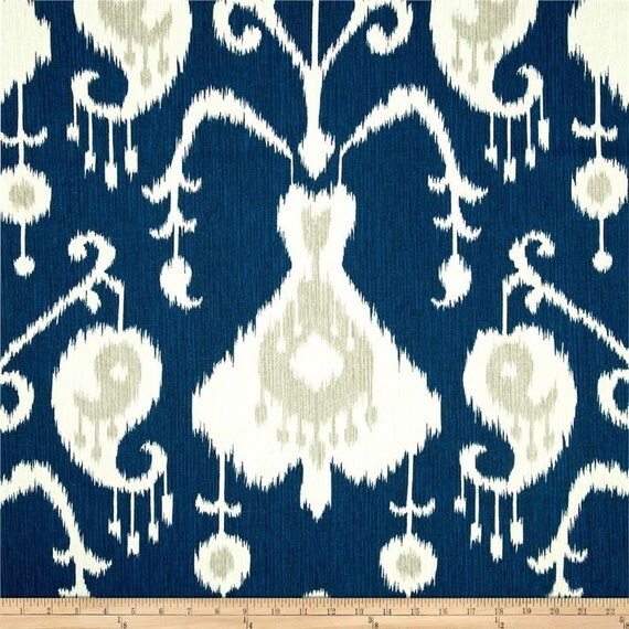 Java Ikat Navy Magnolia Homes Home Decor Fabric By The Yard