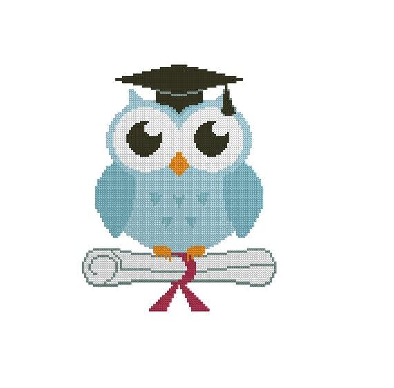 Owl Cross Stitch Pattern Graduation Pdf By Crossstitchforyou