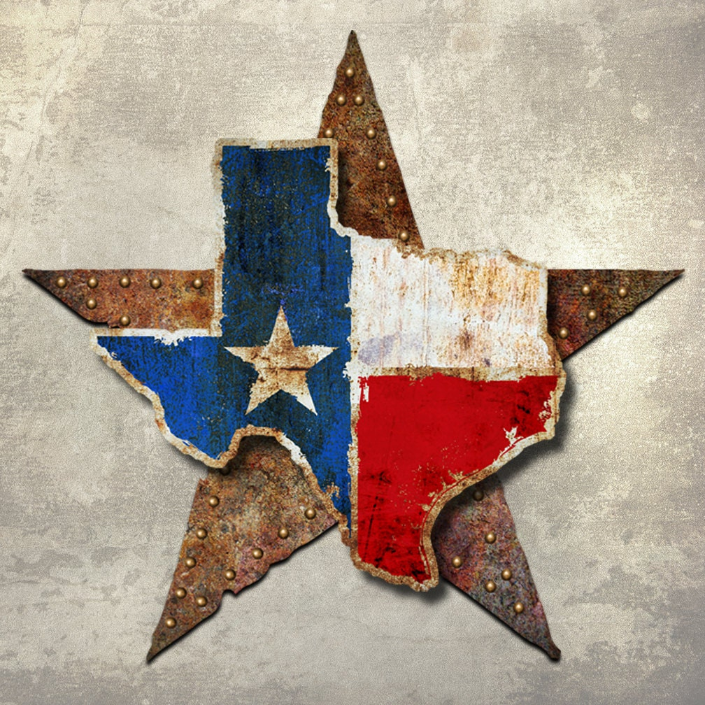 Wall Art Metal Stars : Metal wall art texas star d dimensional by ralphburch