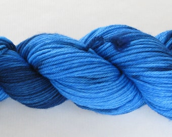 Hand Dyed Worsted Yarn - Worsted Proper (Azure)