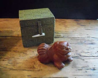 Antique Water Container for Ink Stone (ink slab) : Fu Lion