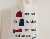 Fezes Are Red, Doctor Who, Matt Smith, Tote Bag