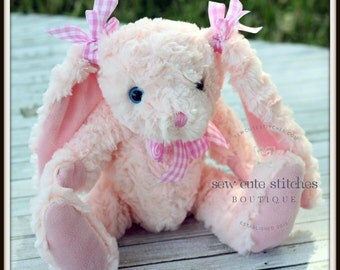 Kids Monogrammed Easter Bunny - Monogrammed Plush Easter Bunny - Personalized Plush Easter Bunny - Stuffed Bunny