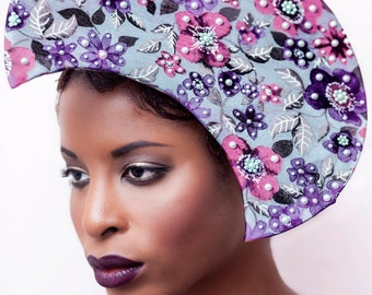 PEARL DE FLOREAL - Couture Disk Headpiece