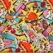 100% Cotton Fabric By Alexander Henry - Midnight Snack - 1/2 And Full Yard Special Price Colorful Food Theme Hipster