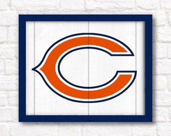 CHICAGO BEARS home decor - Boys room or man cave rustic handmade sign - Chicago Bears fan wall sign - Fathers Day gift for Dad
