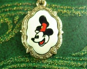 Vintage Mickey mouse necklace childs pendant cartoon character