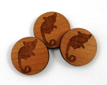 Laser Cut Supplies-8 Pieces.Ring Tail Possum Charms-Laser Cut Wood Shapes-Jewelry Supplies-Little Laser Lab.Online Laser Cutting Australia
