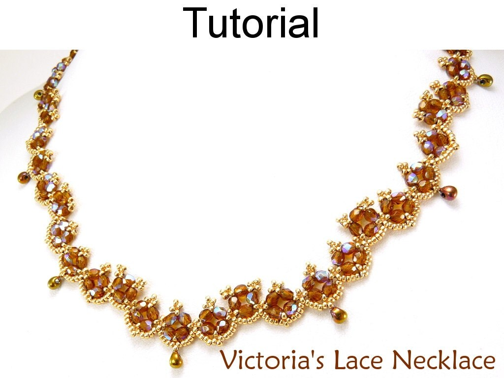 beading tutorial pattern necklace beadweaving simple bead