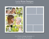 5 x 7 Photo Collage Template - 3
