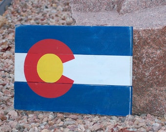 Colorado Sate Flag Wood Sign (Small)