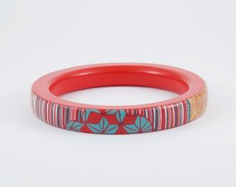 Little Bracelet KIMONO - Orange - Turquoise -