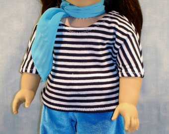 18 Inch Doll Clothes - Frenchy Outfit Blue made by Jane Ellen to fit 18 inch dolls