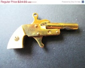 ON SALE Toy Pistol, Little Atom, Gold like with Mother of Pearl, Small Toy Pistol Gun, 40's Toy