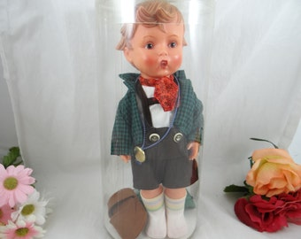 "1964 1700 Series Goebel Vinyl Doll 902 ""Seppl"" Brother with Tag in Orginal Box"