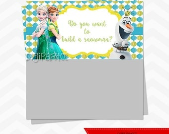 INSTANT DOWNLOAD - Frozen Fever Goodie Bag Toppers - Do you want to build a snowman?