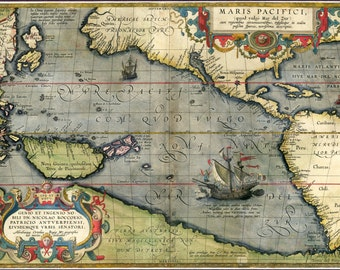 Ortelius pacifici 1589, Old world maps, Ancient maps, Old world map, Antique world map, Maps, World map, 212