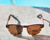 Wooden Sunglasses, Wood Sunglasses., Unisex Tortoise Sunglasses Tortoise - HYB-TF