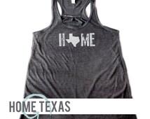 WOMEN'S Soft Blend Flowy Racerback Tank   Texas Home Tank   Texas Shirt   I Heart Texas   Dallas   Houston   A&M   Texas Tech   Longhorns