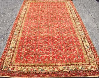 Persian Rug - 1920s Antique Hand-Knotted Malayer Persian Rug (3117)