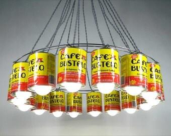 Chandeliers, Lighting, Unique Pendant Lamp, Custom Lighting, Repurposed Lighting, Upcycled Pendant Lamp, Kitchen Decor by Eddie Villegas