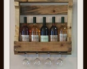 Small Pallet Wine Rack  Natural Rustic Finish