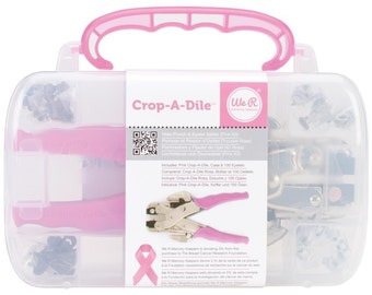 Crop-A-Dile Pink Punch Eyelet Setter With Case & Eyelets by We R Memory Keepers