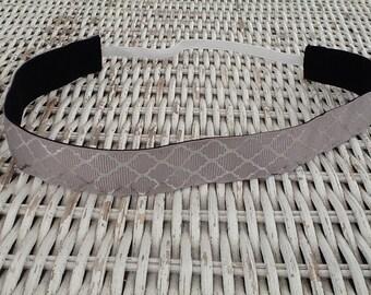 Grey Silver Foil Link Headband - Girls Sports Headband