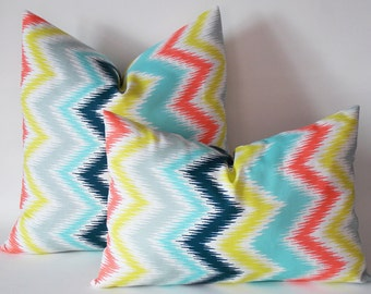 Set Of 2 / Decorative Chevron Pillow, Zig Zag Throw Pillow, Chevron Decorative Throw Pillow Cover, All Sizes Chevron Accent Pillows