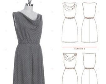 Myrtle Dress Pattern by Colette Patterns - Beginner - Knit Dress Pattern - Pattern Sewing Pattern - Colette Patterns