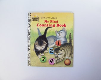 """Little Golden Book """"My First Counting Book"""" - Children's Book, Story Book, Animal Book"""