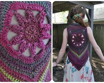 Custom Made to Order Blossom Mandala Vest