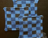 Fleece Rat Hammock: Blue Checkers 10-inch Square