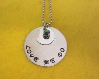 """Beatles song """"Love Me Do"""" necklace"""
