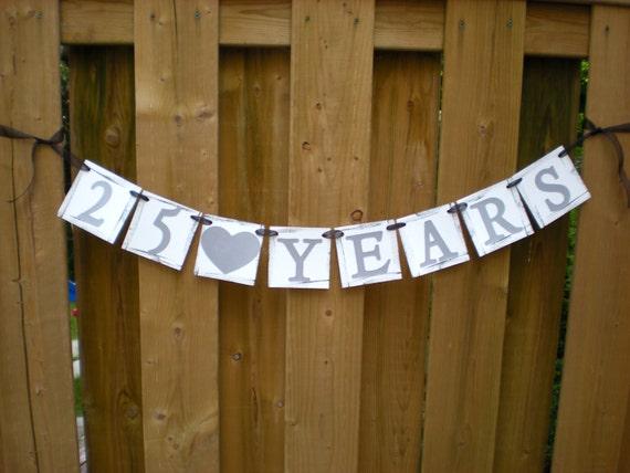 Years Banner Anniversary Banner 25 Years