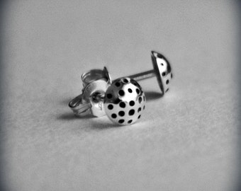 Dotty Stud Earrings - Handcrafted - Sterling Silver