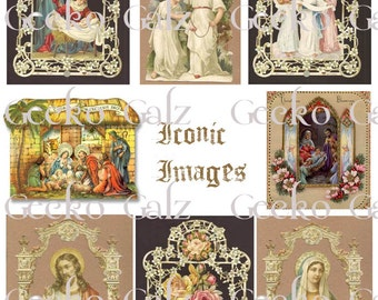 Iconic Images Digital Collage Sheet