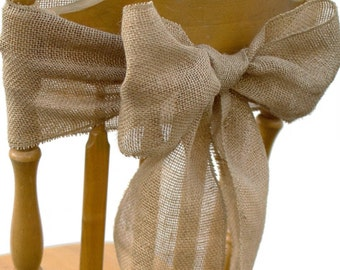 Burlap chair bows. Tie your own, add flowers set of 12